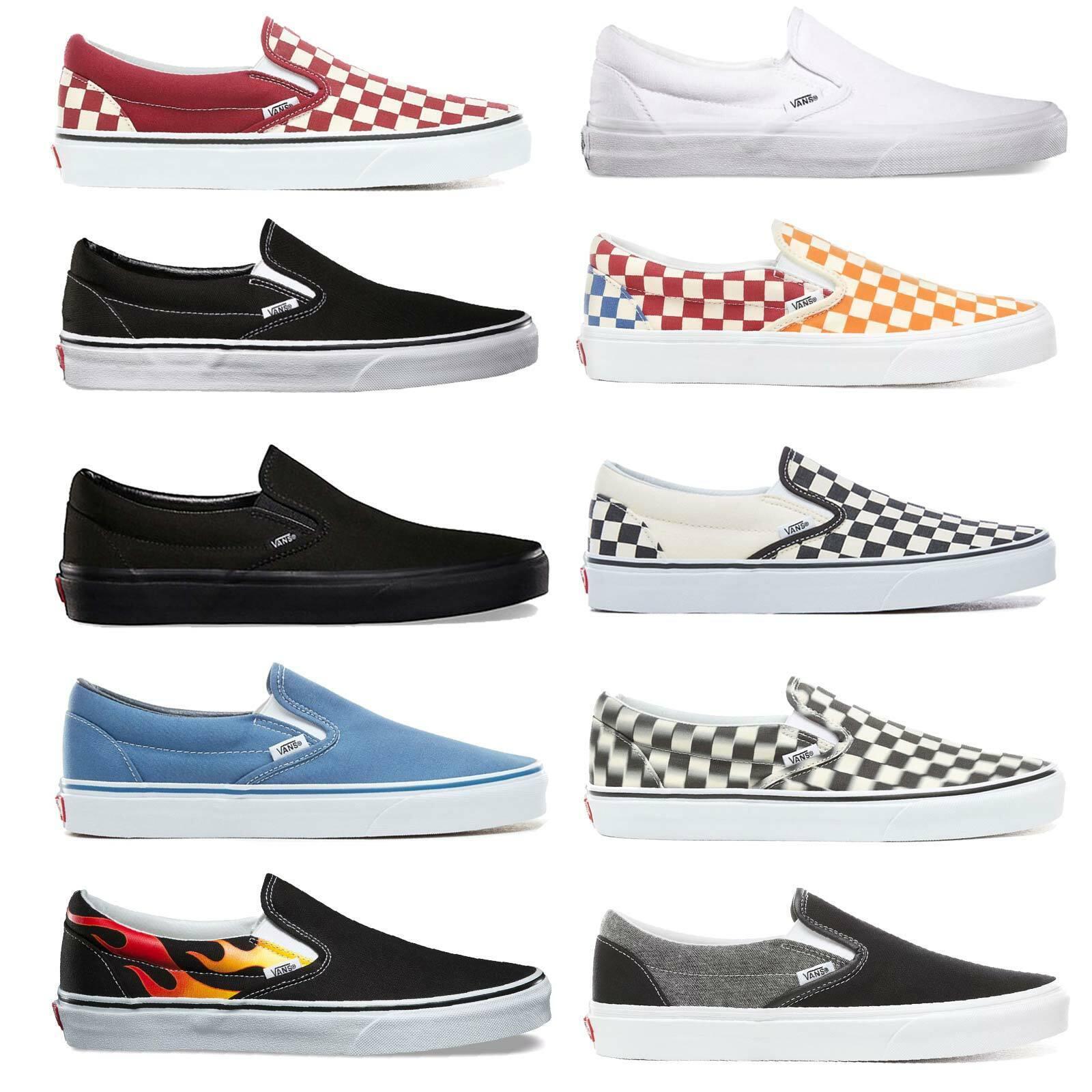Vans Classic Slip On Herren Schuhe Slipper Sneaker Halbschuhe Skateschuhe Slipon