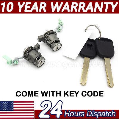 Door Lock Cylinder Front Set Kit with Keys for Honda S2000 Accord Civic (Honda Accord Door Lock)