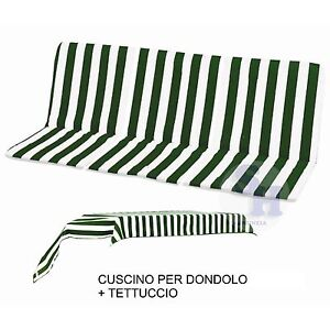 Ricambio cuscino imbottito dondolo 3 posti telo per for Telo copri dondolo 3 posti
