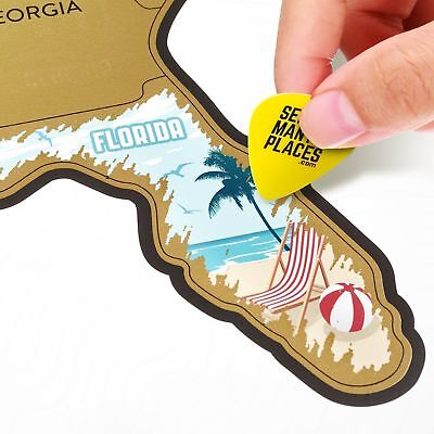 See Many Places Scratch Off US - USA Map - United States Travel Road Trip Tra...