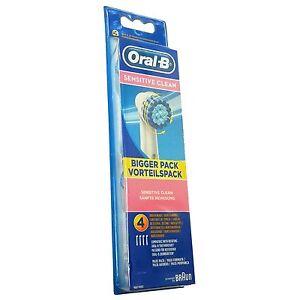 4-Oral-B-Sensitive-Clean-Aufsteckbursten-Original-OralB-Ersatz-Zahn-Bursten