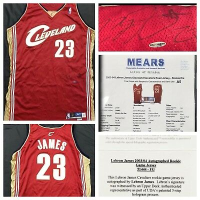new product f0d89 922b1 Basketball-NBA - Lebron James Game Used Jersey - Trainers4Me