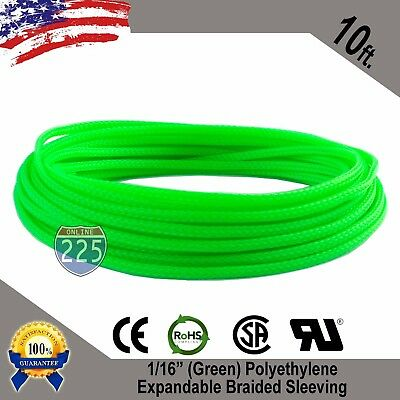 "10 FT 1//8/"" Black Blue Expandable Wire Sleeving Sheathing Braided Loom Tubing US"