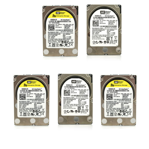 Lot of 5 Assorted Dell HP WD Seagate 80GB 2.5
