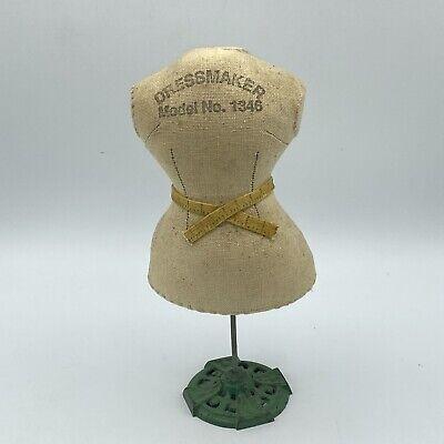 Vintage Mini Dressmaker Form Mannequin Store Display Receipt Holder