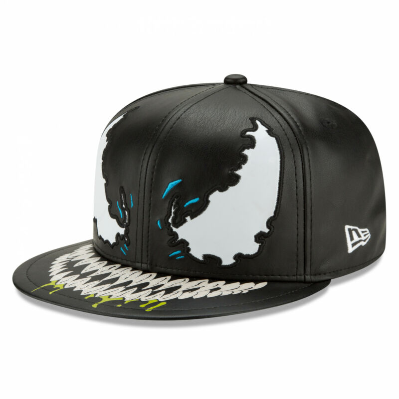 Venom Character Armor w/Carnage Underlining New Era 59Fifty Fitted Hat Black