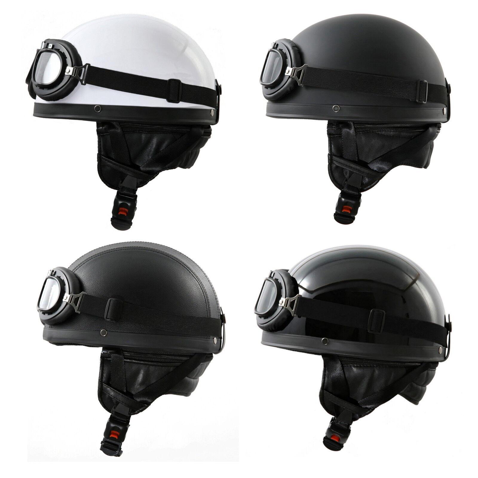 Retro Oldtimer Motorradhelm + Brille Motorrad Helm für DDR Moped B-Ware!