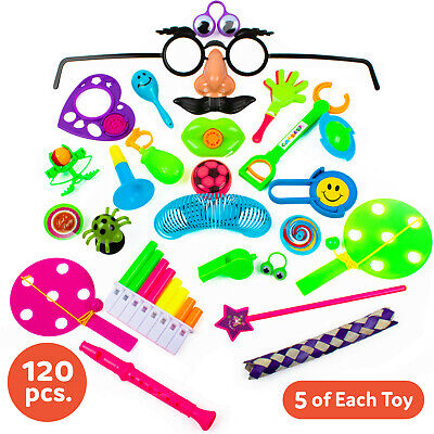 Party Bags For Kids (120 pc Party Favors for Kids Boys GIrls Bulk Toys Assortment Goodie Bag Fillers)