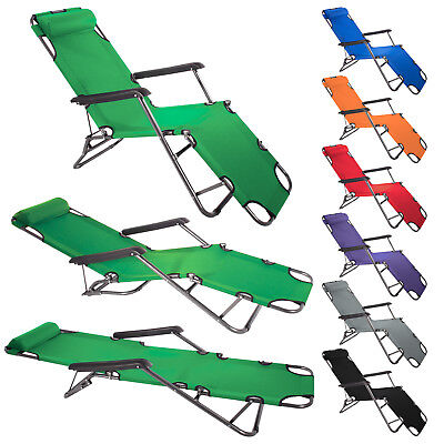 SMARTFOX Sonnenliege Gartenliege Strandliege Relaxliege Camping Balkon Sommer