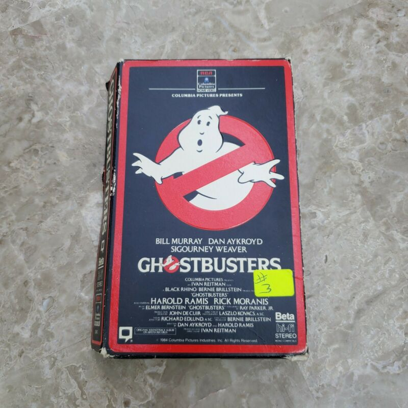 GHOSTBUSTERS BETA Not VHS 🎥 ORIGINAL COPY! Must have for Collectors
