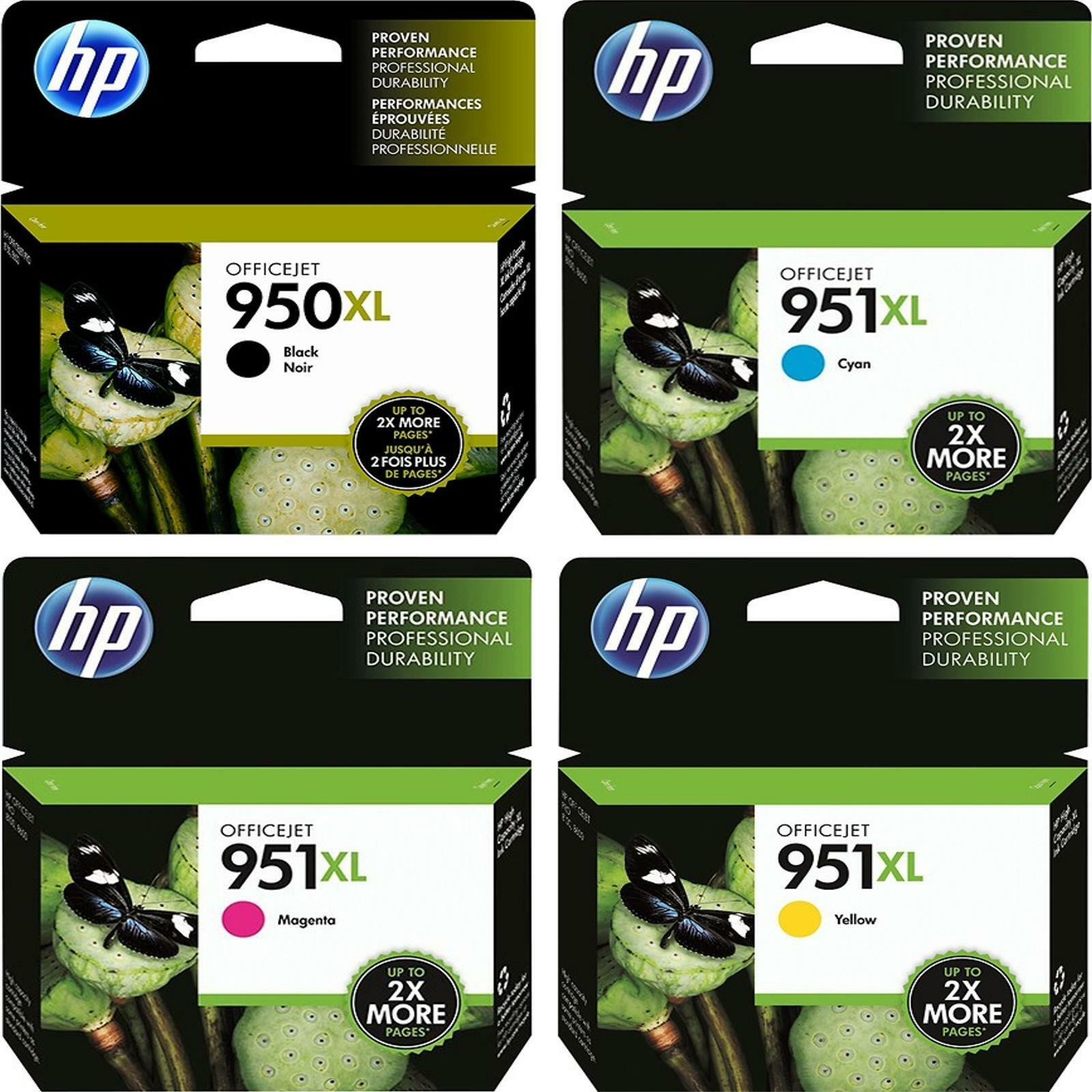 4-pack Hp Genuine 950xl Black & 951xl Color Ink (no Retai...