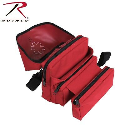 Rothco Red Ems Medical Field Bag - Emsemt Shoulder Bag With Star Of Life Emblem