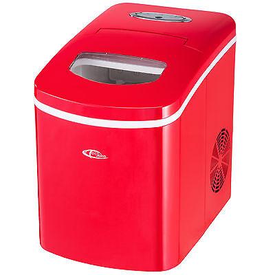 Eiswürfelmaschine Eiswürfelbereiter Icemaker Ice Maker Machine ROT