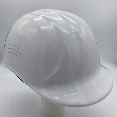 Erb Safety 67 Bump Cap Vented Baseball Pinlock Suspension White