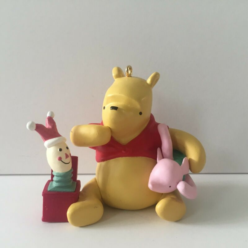 Hallmark Piglets Jack in the Box Classic Pooh Collection Christmas Ornament 2000