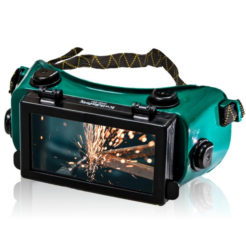 KwikSafety HAMMERHEAD Welding Goggles ANSI Anti Fog Flip-Up #5 Lens