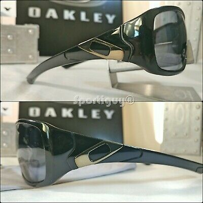 Oakley Sideways Sunglasses OO05-993 ~ Polished Black w Grey Lens & (Sideways Sunglasses)