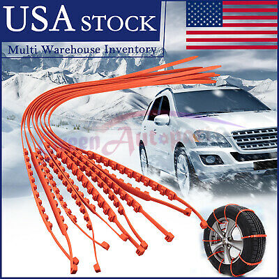 10 PCS Snow Tire Chain for Car Truck SUV Anti-Skid Emergency Winter Driving US