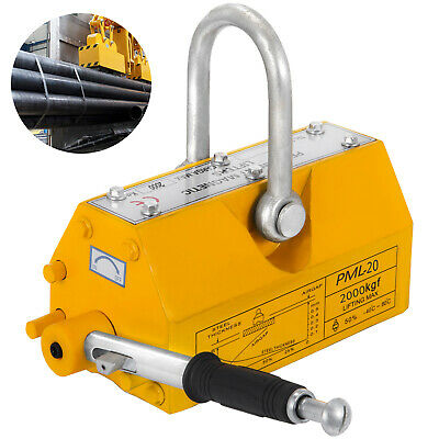 Heavy Duty 4400lb 2000kg Steel Lifting Magnet Magnetic Lifter Hoist Crane