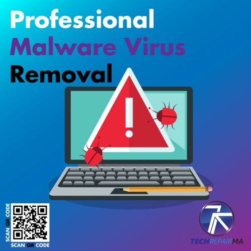 Professional Malware Virus Removal Mail-In Services **Shipping Label Provided**