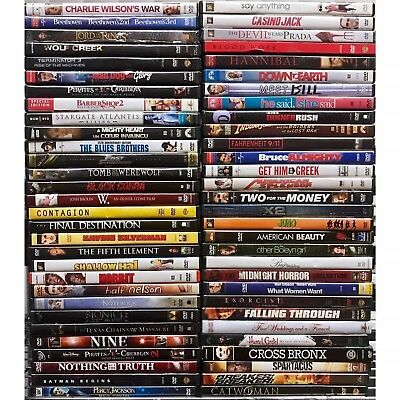 100 DVD Movies Lot Assorted Wholesale Bulk Used DVDs 100 ALL Movies $1K+ Retail!
