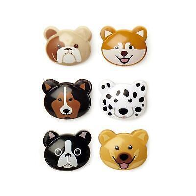 Kikkerland Set Of 6 Doggie Bag Clips Food Kitchen Storage Fun Novelty Gift Idea