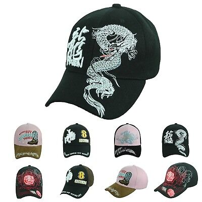 Baseball Cap ROSE Hat DRAGON 8 SECONDS COWGIRL Hats Causal Fashion Caps (Cheap Cowgirl Hat)