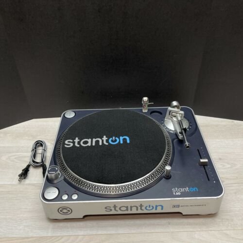 Stanton T50 DJ Turntable With Cartridge / Stylus - Tested Working