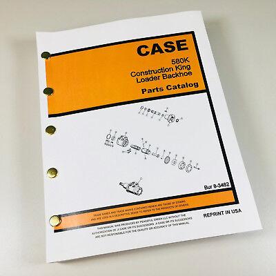 Case 580k Ck Loader Backhoe Parts Manual Catalog Book Phase One 1 I One