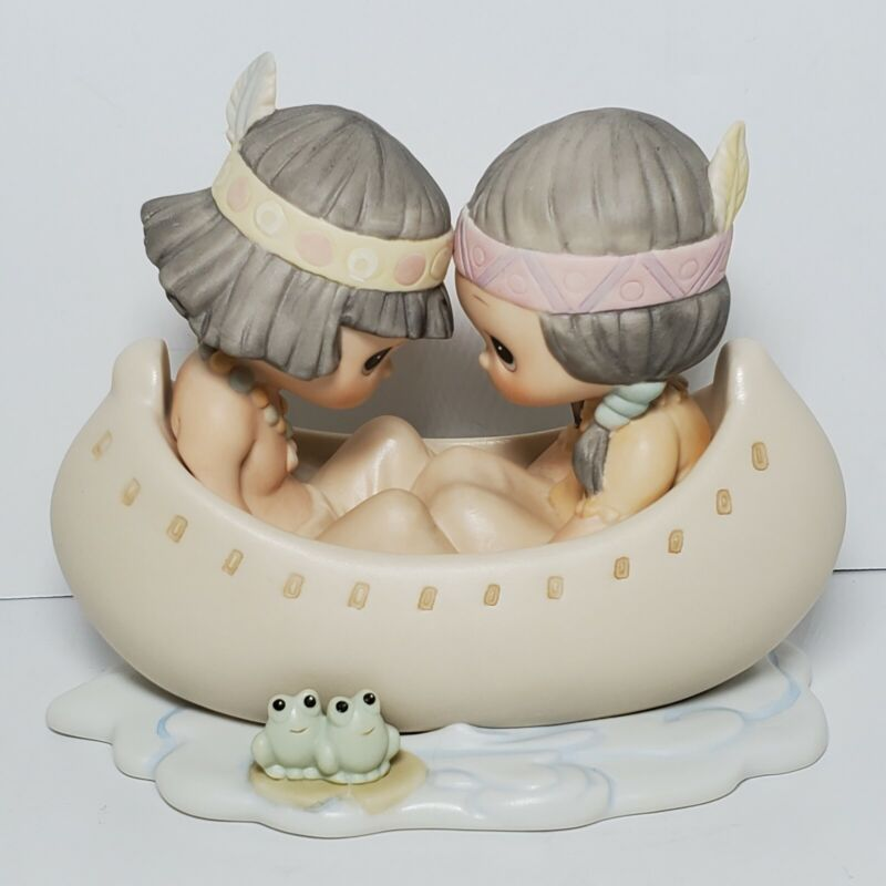 """Precious Moments """"Many Moons In The Same Canoe, Blessum You""""  520772 Enesco"""