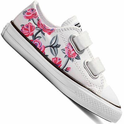 Converse CT Chucks All Star 2V OX Kleinkinder-Schuhe Klettschuhe Sneaker Girls (Converse Kleinkind Schuhe)
