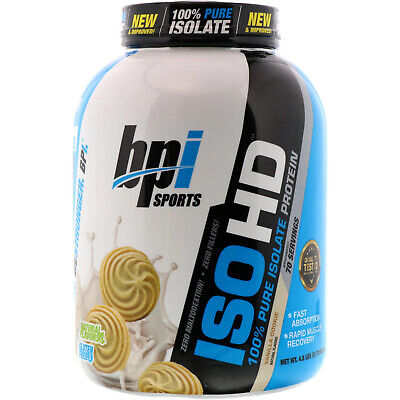 BPI Sports ISO HD 100 Pure Isolate Protein Vanilla Cookie 4 8 lbs 2170 g