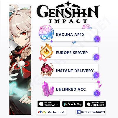 [Europe/EU] Genshin Impact Kazuha Starter Account AR10 [Instant Delivery]