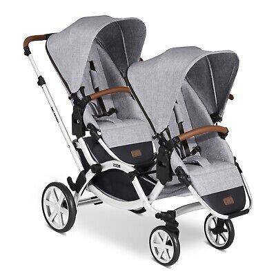 ABC Design Zwillings- und Geschwisterkinderwagen Zoom Classic graphite grey TOP