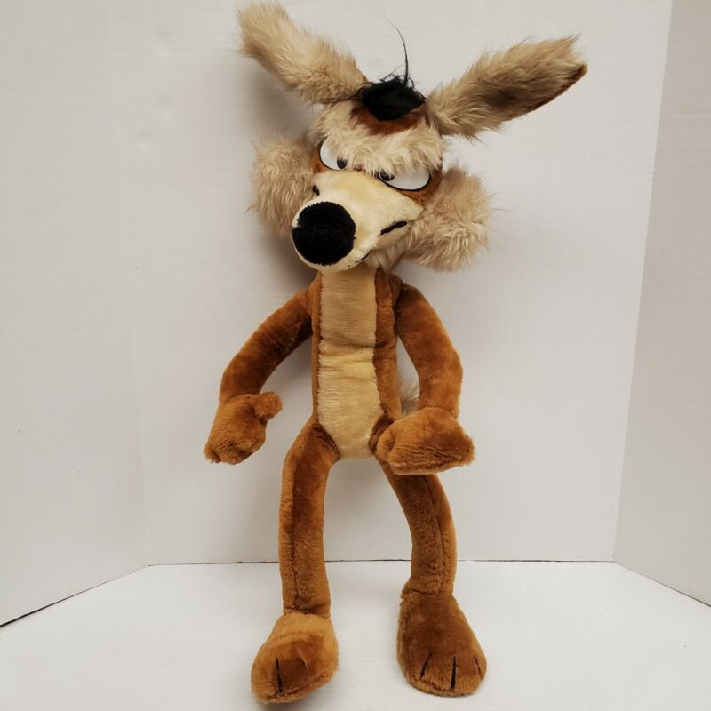 "Vintage 1971 30"" Wile E Coyote Mighty Star Wired Poseable Plush Warner Bros"