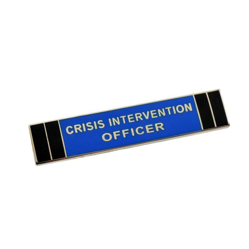 Crisis Intervention Officer Police Citation Bar Lapel Pin Silver Nickel