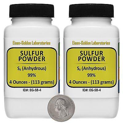 Sulfur Powder S8 99 Acs Grade Powder 8 Oz In Two Space-saver Bottles Usa