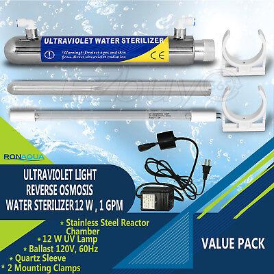 Ultraviolet Light Water Purifier Reverse Osmosis UV Sterilizer 12W Ultraviolet Water Sterilizer