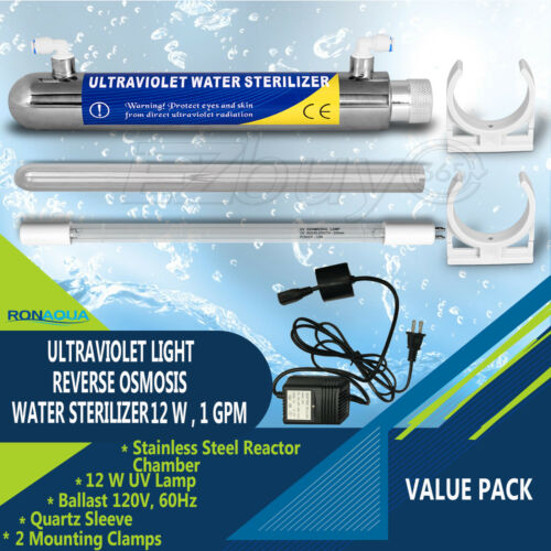 Ultraviolet Light Water Purifier Reverse Osmosis UV Sterilizer 12W