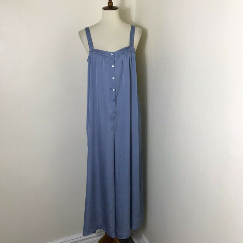 Hatch Maternity Wide Leg Jumpsuit Size 2 US 8 Blue NWT $278