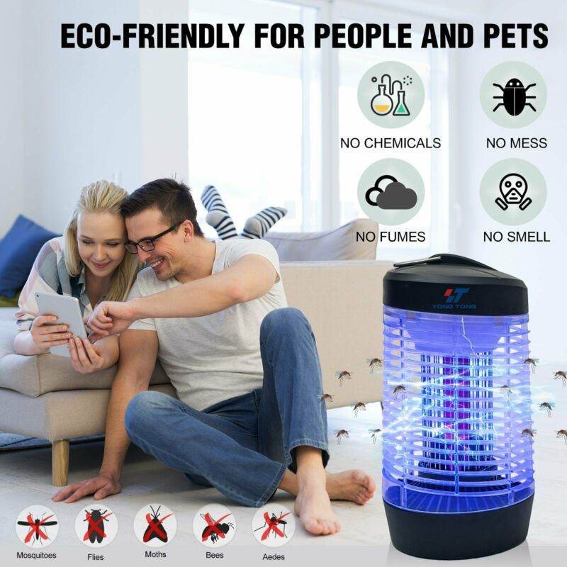 UV Lamp Fly Control Electronic Mosquito Killer Indoor Bug Zapper Insect Zappers