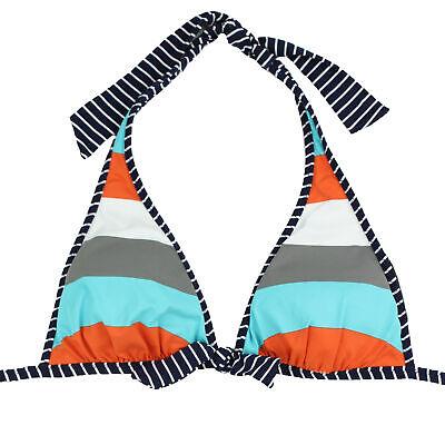 Tommy Bahama Reversible Halter Bikini Top-NWOT (Bold Stripe/Navy Stripe, Small)