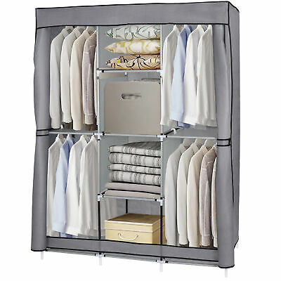 Portable Clothes Storage Closet Organizer Wardrobe Rack