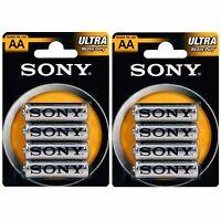 8 X Aa Sony Ultra Heavy Duty 1.5v Zinc Batteries R6 Lr6 Expiry: 2019 - sony - ebay.co.uk
