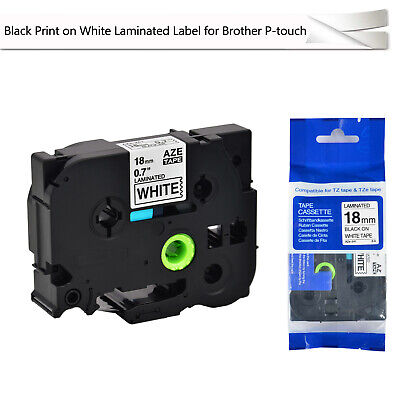 Tze241 Tz241 34 Black On White Laminated Label Tape 18mm For Brother P-touch
