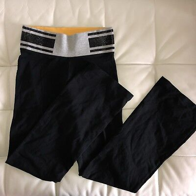 Sexy New Victoria's Secret PINK YOGA Pant Leggings Black Extra Small Short