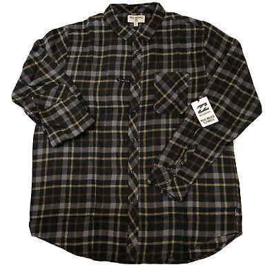 Billabong Freemont Men's Flannel Shirt Size XL Black Plaid