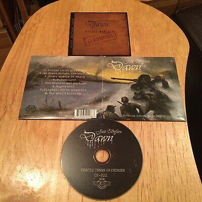 Just Before Dawn - Precis Innan Gryningen CD 1st US press bolt thrower asphyx