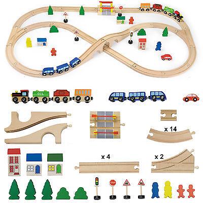 Vortigern 51 piece Wooden Train Set  #51034