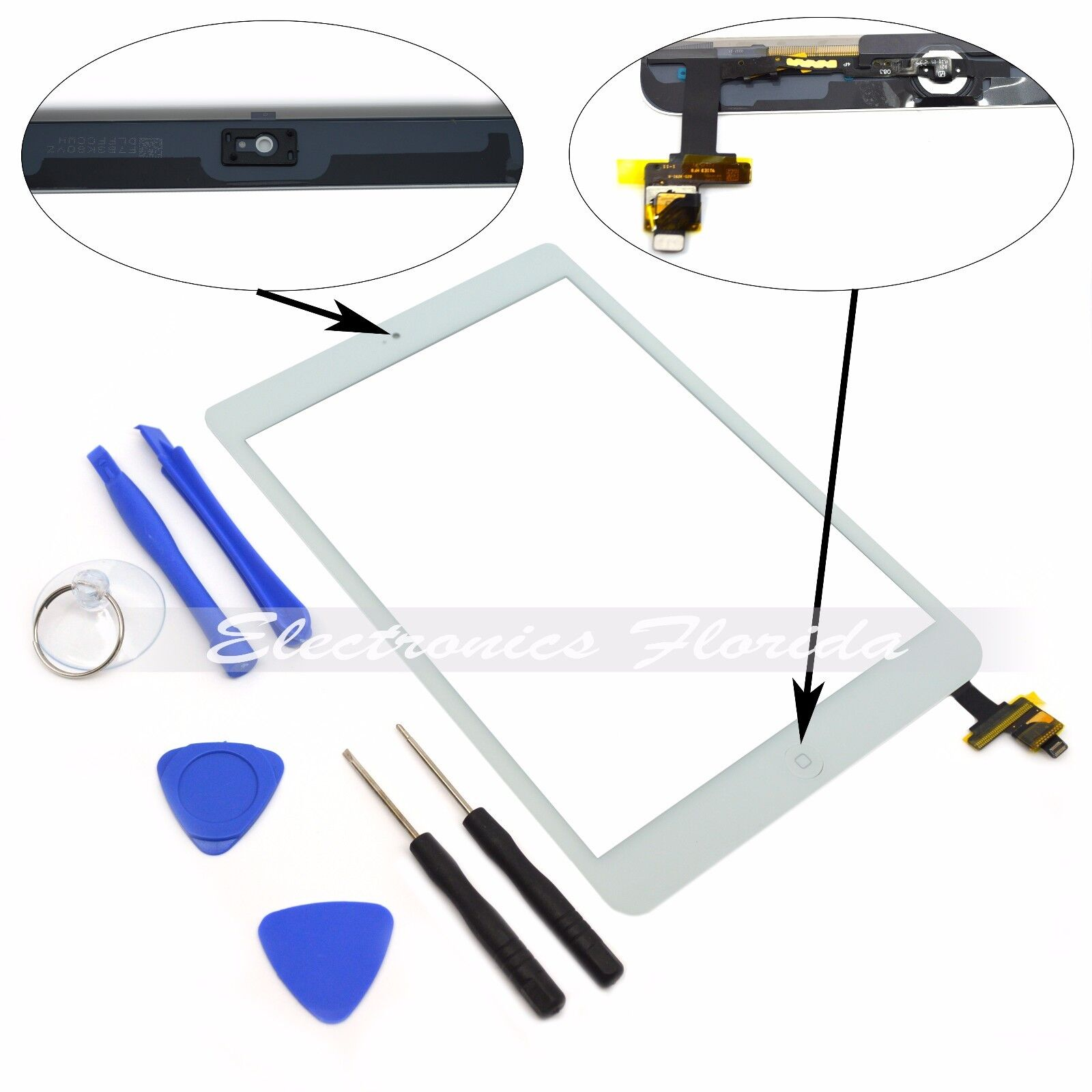 Touch Screen Digitizer Replacement For Apple iPad 2/3/4/ & Air  - Black / White